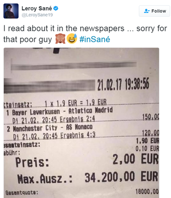 Sané pede desculpas no Twitter (Foto: Reprodução / Twitter)
