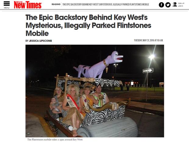Miami New Times desvenda o mistério do carro (Foto: Reprodução / Miami New Times)