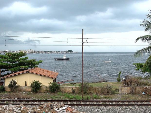 Área onde ficava plataforma da petrobrás, segundo morador, na Bahia (Foto: Lílian Marques/G1 BAhia)