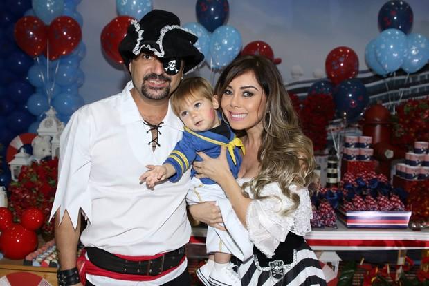 Edson com a mulher, Andrea, e Davi (Foto: Thiago Duran/AgNews )