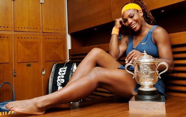 tênis serena williams Roland garros troféu (Foto: Agência Reuters)