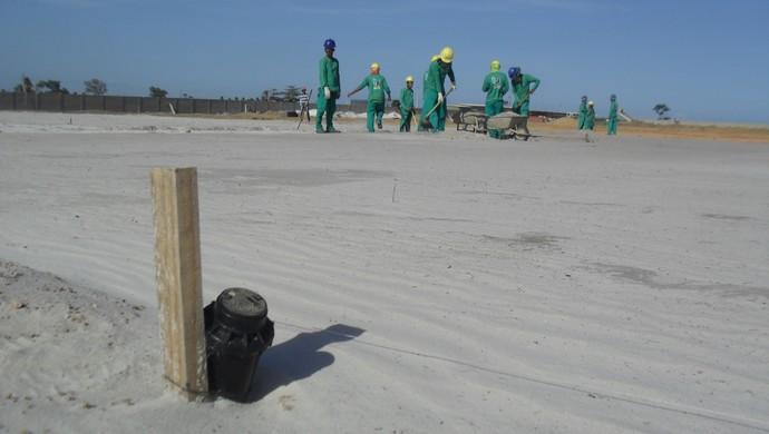 Campos do Ninho do Galo terão sistema de irrigação automático (Foto: Denison Roma / GloboEsporte.com)