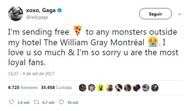 Lady Gaga manda presente para os fãs (Foto: Reprodução)