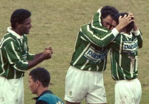 Paulistão 1993 Evair Zinho Palmeiras (Foto: Masao Goto Filho / Agência Estado)