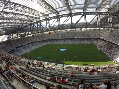 atlético-pr x paraná arena da baixada (Foto: Thiago Ribeiro)