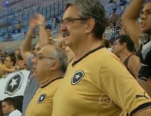 Ratko Rudic no Maracanã (Foto: Reprodução/TV)
