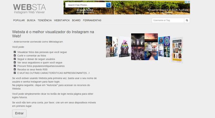 WebSta tem interface completa com novidades do Instagram e visual em português (Foto: Reprodução/Barbara Mannara)