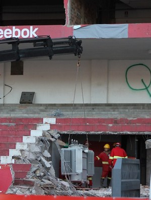 Obras no Beira-Rio (Foto: Diego Guichard / GLOBOESPORTE.COM)