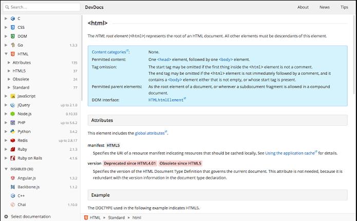 Extensão ajuda programadores a encontrar referências para corrigir erros em código (Foto: Reprodução/DevDocs)