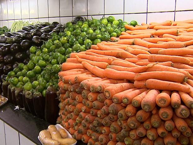 Preço da cenoura variou 46% em novembro: tubérculos contribuiram com inflação no mês (Foto: Reprodução/EPTV)