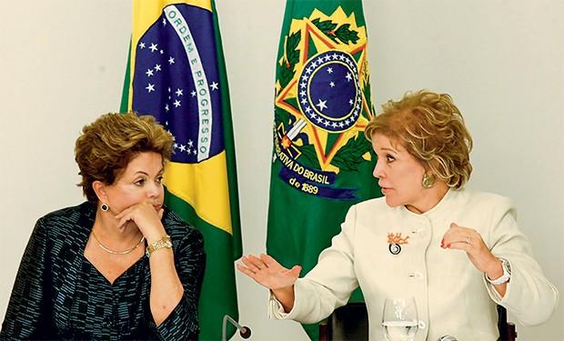 ROMPIMENTO Dilma e Marta, em  julho de 2013, no Palácio do Planalto. As duas  se tornaram inimigas após  críticas da  ex-ministra à presidente  (Foto: Pedro Ladeira/Folhapress)