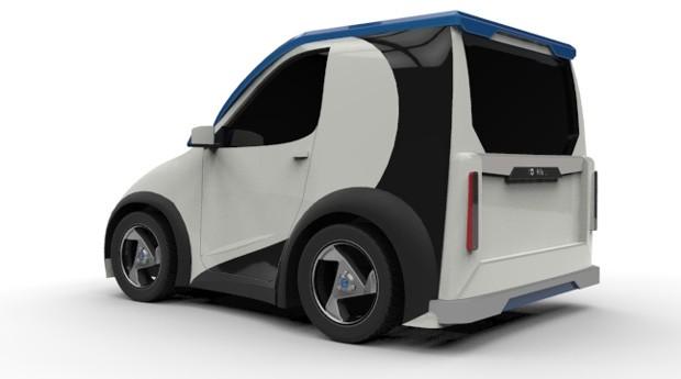 Projeto Opal: carro pode ser transformado em veículo de carga (Foto: Divulgação)
