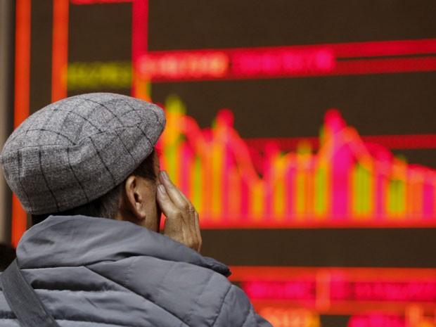 O índice de Xangai teve alta de 2,27% nesta quarta-feira (Foto: Reuters)