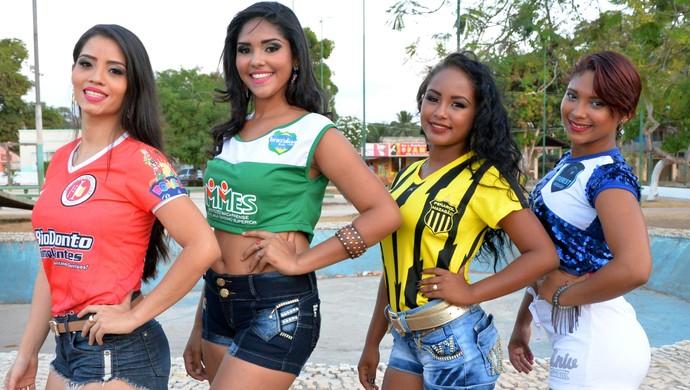 Quatro candidatas irão disputar o concurso, que chega à segunda edição (Foto: Gabriel Penha/Musa dos Clubes Mazagão)