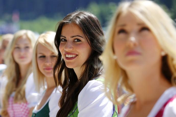 Modelos do GP da Áustria (Foto: Getty Images)