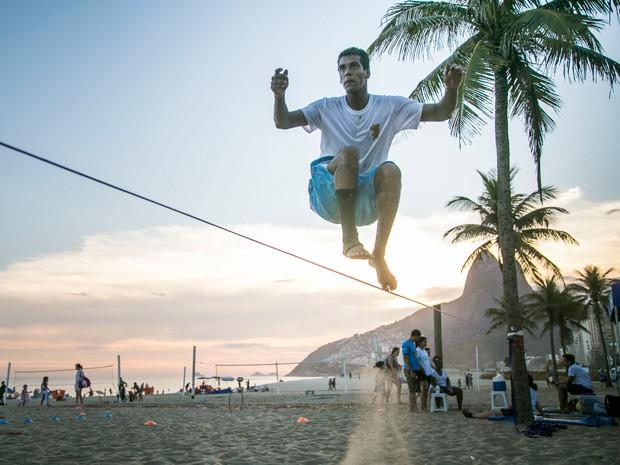 Marcello está mostrando muita habilidade no esporte (Foto: Raphael Dias/Gshow)