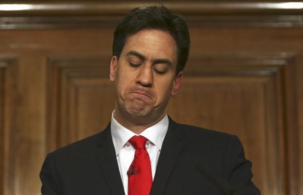 Líder do partido trabalhista britânico,  Ed Miliband, anuncia renúncia após derrota nas eleições parlamentares britânicas (Foto: Reuters)