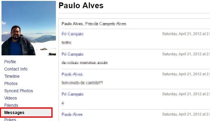 Acesse seu histórico completo de mensagens (Foto: Reprodução/Paulo Alves)