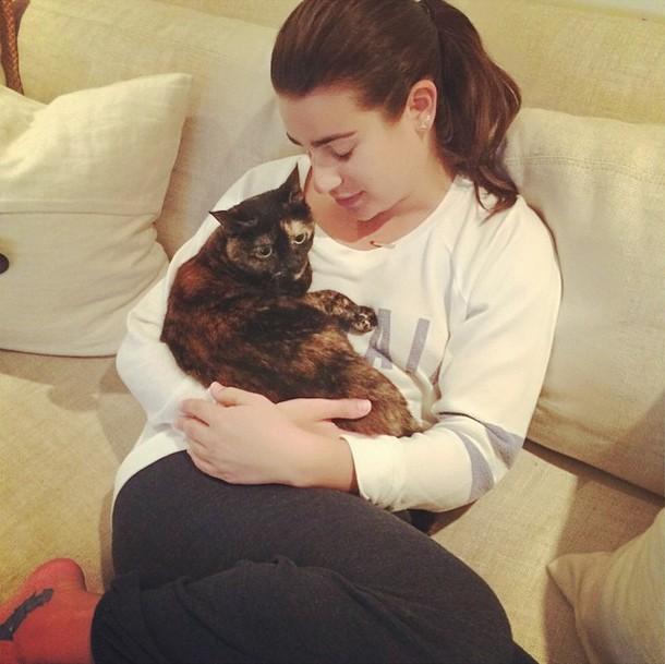 Lea Michele a Sheila (Foto: Reproduo / Instagram)