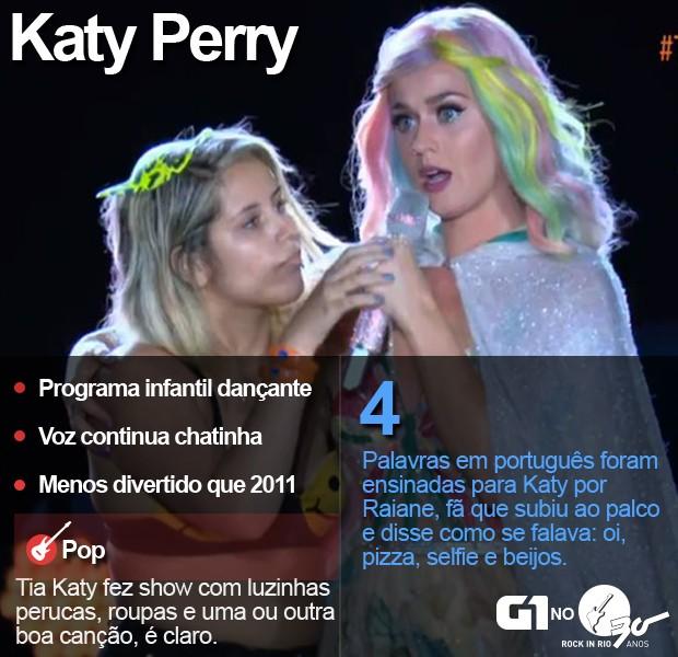 Katy Perry fecha o Rock in Rio com show no Palco Mundo (Foto: Alexandre Durão/G1)