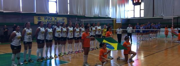 Seleção feminina de vôlei bate a Itália em amistoso (Foto: Leonardo Moraes/CBV)