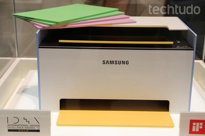 Mate, da Samsung, é um exemplo de impressora a laser (Foto: Fabrício Vitorino/TechTudo)