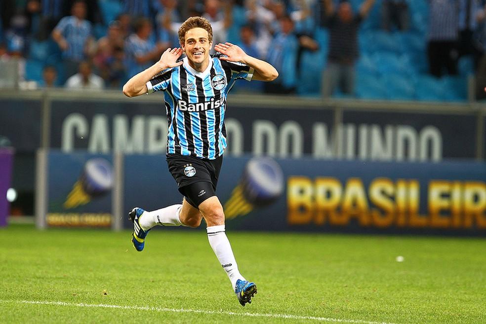 Maxi Rodríguez viveu o melhor momento no Grêmio em 2013 (Foto: Lucas Uebel/Grêmio FBPA)