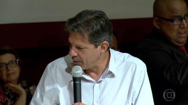 Fernando Haddad volta a comentar a denúncia do WhatsApp