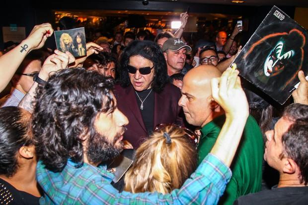 Gene Simmons, fundador e baixista da banda KISS (Foto: Manuela Scarpa/Photo Rio News)