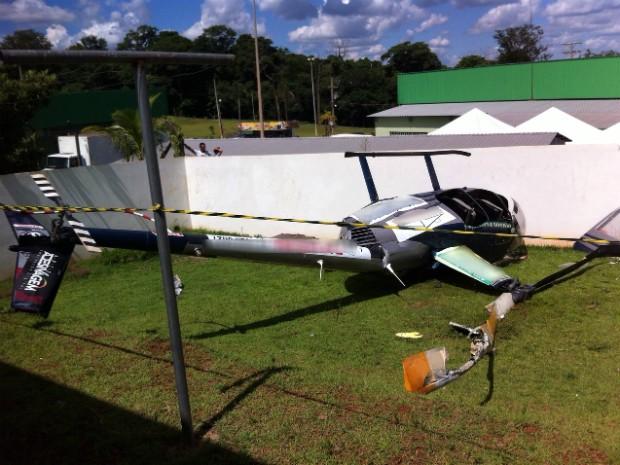 De acordo com a Polícia Militar, após levantar voo aeronave teve uma pane mecânica (Foto: Luciney Molina Marques/ Arquivo Pessoal)