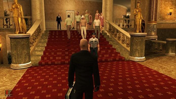 Hitman: Blood Money introduziu um sistema de notoriedade no qual pessoas reconhecem o Agente 47 de acordo com sua fama (Foto: Reprodução/Gamasutra)
