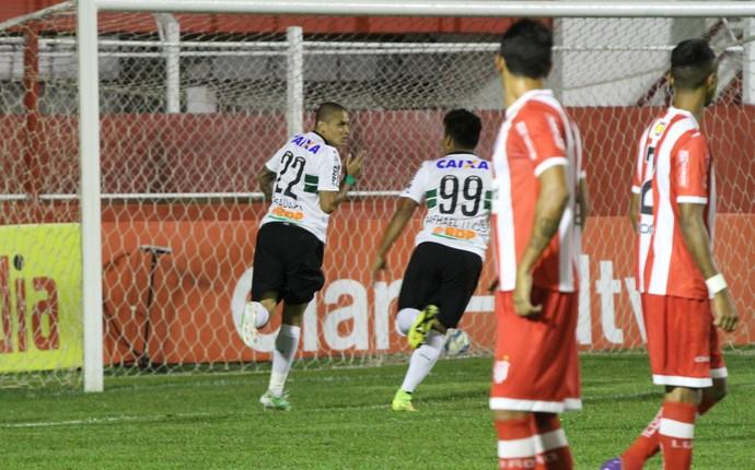 Villa Nova x Coritiba gol Wellington Paulista (Foto: Raphael Vinicius - Divulgação Coritiba)