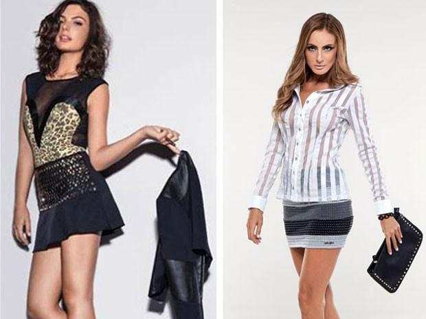 Transparências caem bem em vários looks como uma sobreposição de peças ou com um top por baixo (Foto: Sangue Bom / TV Globo)