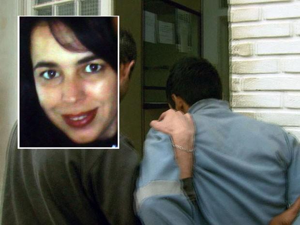 Suspeito de matar funcionária de posto de saúde é preso em Caldas (Foto: Reprodução EPTV / Marcelo Rodrigues)