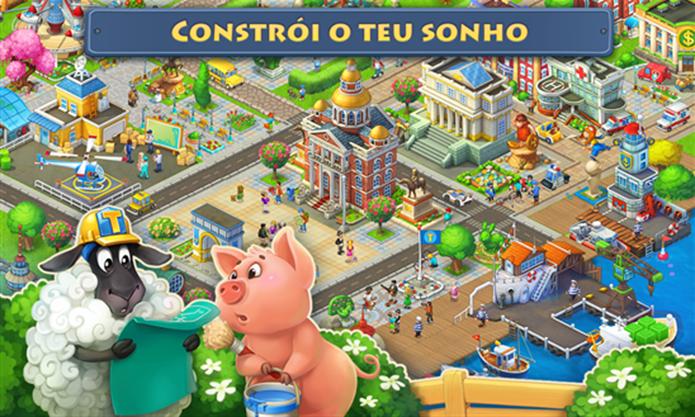 Township mistura construção de cidade com administração de fazendas (Foto: Divulgação/Windows Phone Store)