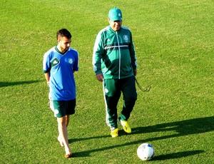 Maikon Leite treino separado Palmeiras (Foto: Marcelo Hazan)
