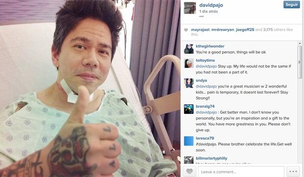 David Pajo, guitarrista do Slint, divulgou no sábado foto do hospital, onde se recupera de tentativa de suicídio (Foto: Reprodução / Instagram)