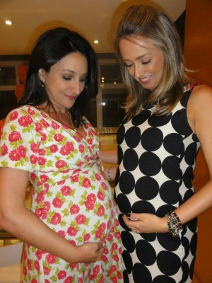 Patrícia Cavalheiro e Carla Fachim estão grávidas (Foto: Arquivo Pessoal)