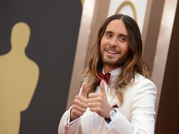 Jared Leto chega ao Oscar 2014 (Foto: Jordan Strauss/Invision/AP)