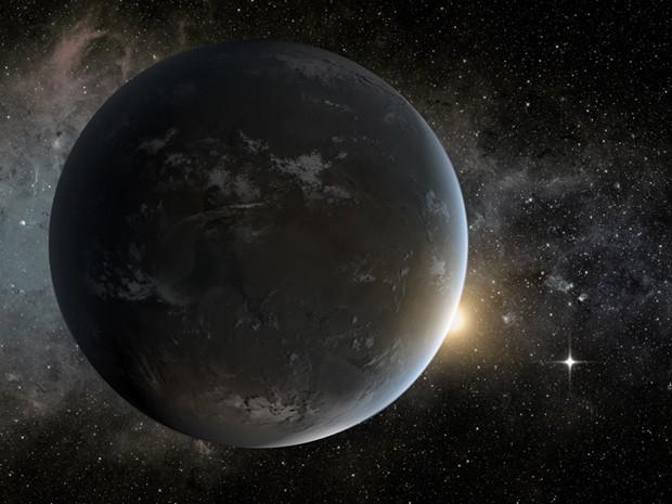 O planeta Kepler-62f é 40% maior do que a Terra e orbita uma estrela localizada a 1.200 anos-luz da Terra. (Foto: Science@NASA/NASA's Goddard Space Flight Center)