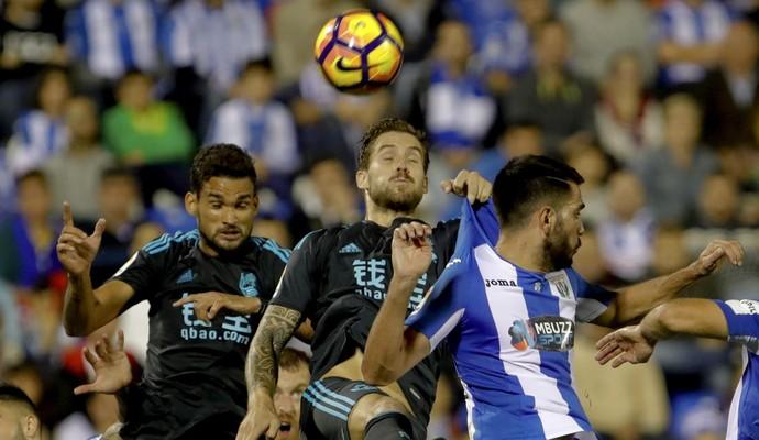 Willian José marca para Real Sociedad contra o Leganés (Foto: JuanJo Martín/EFE)
