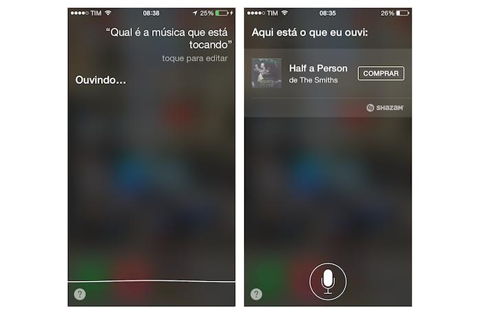 Descobrindo o nome de uma música com a Siri em português (Foto: Reprodução/Marvin Costa)