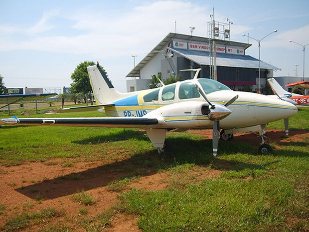 PF apreendeu aeronaves durante operação contra tráfico internacional de drogas. (Foto: Assessoria/ PF-MT)