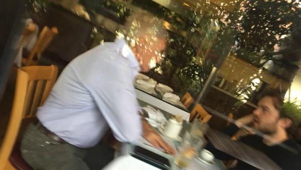 Suposto encontro de Harrison Ford e Alden Ehrenreich (Foto: Reprodução Twitter)