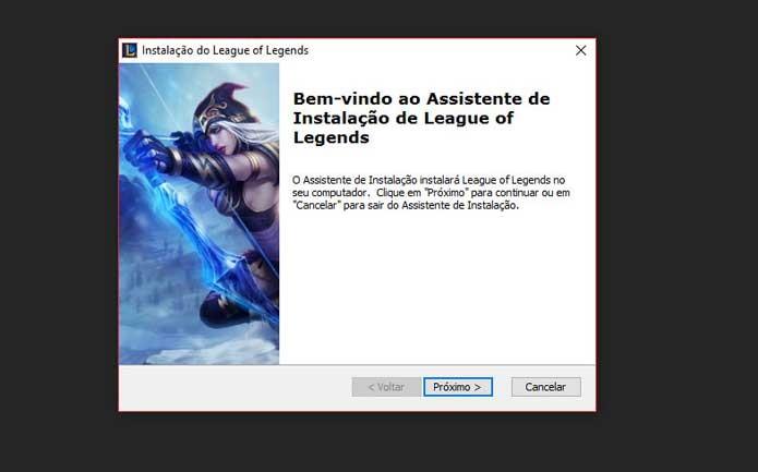 Instalação inicial de League of Legends (Foto: Reprodução/Felipe Vinha)