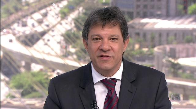 Veja a entrevista que o SPTV fez com o candidato Fernando Haddad, do PT