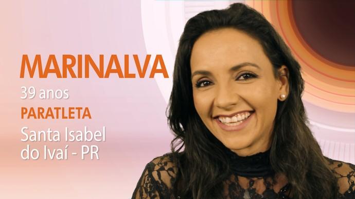 Marinalva tem 39 anos e é paratleta (Foto: TV Globo)