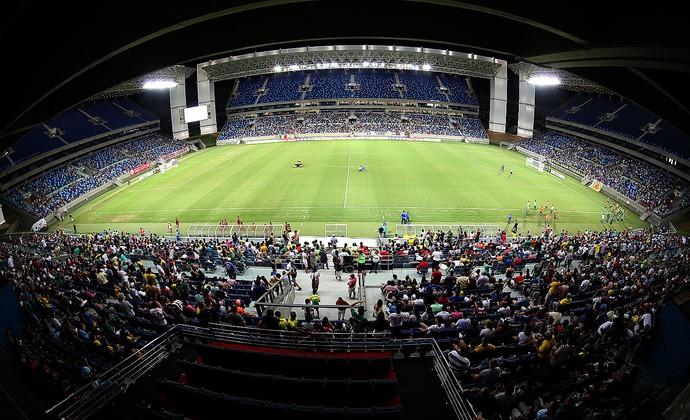 Gramado Arena Pantanal na rodada dupla 03.08 (Foto: Lenine Martins/Secom-MT)