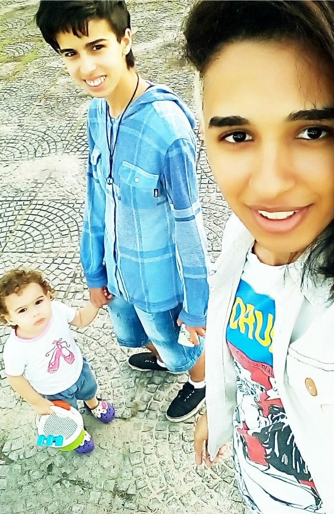 Thamara com o namorado Kel, que gerou a pequena Heloísa (Foto: Divulgação/ Gold)