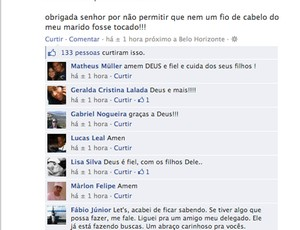 Facebook do Élber, meia do Cruzeiro (Foto: Reprodução/Facebook)